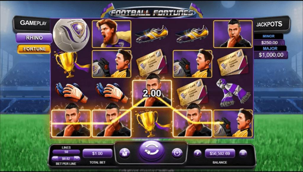 Raging Bull Casino RTG Football Fortunes