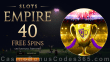 Slots Empire 40 FREE Spins on Football Fortunes New RTG Game Special New Players Offer