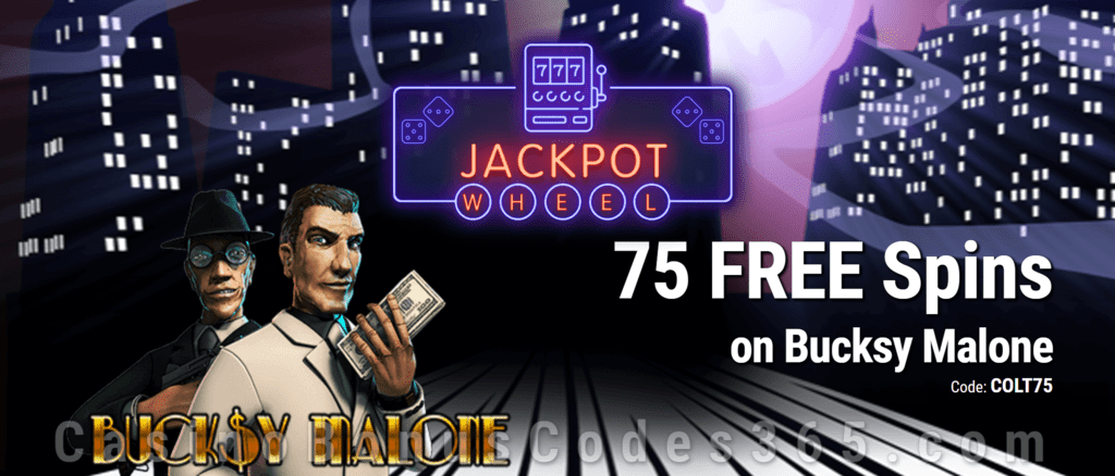 Jackpot Wheel 75  FREE Saucify Bucksy Malone Spins Exclusive No Deposit All Players Promo
