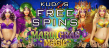 Kudos Casino 40 FREE Spins on Mardi Gras Magic New RTG Game Special Deal