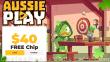 AussiePlay Casino $40 FREE Chip Special St. Patrick's Day No Deposit Offer RTG
