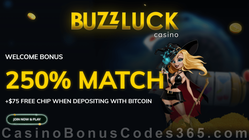 Buzzluck casino no deposit bonus codes 2021 2022