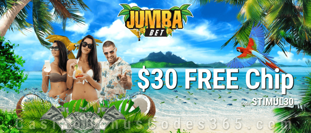 Jumba Bet Exclusive $30 FREE Chip All Players No Deposit Deal