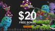Desert Nights Casino $20 FREE Chip on Monster Breakout New Genii Game No Deposit Deal