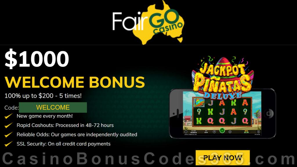 Fair Go Casino RTG Jackpot Piñatas Deluxe