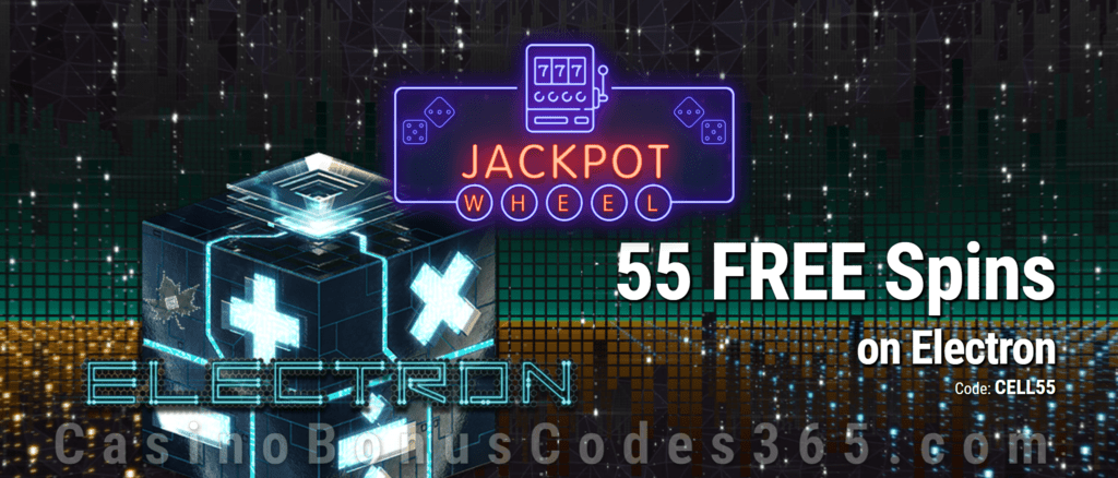 Jackpot Wheel 55 FREE Saucify Electron Spins Exclusive No Deposit All Players Promo