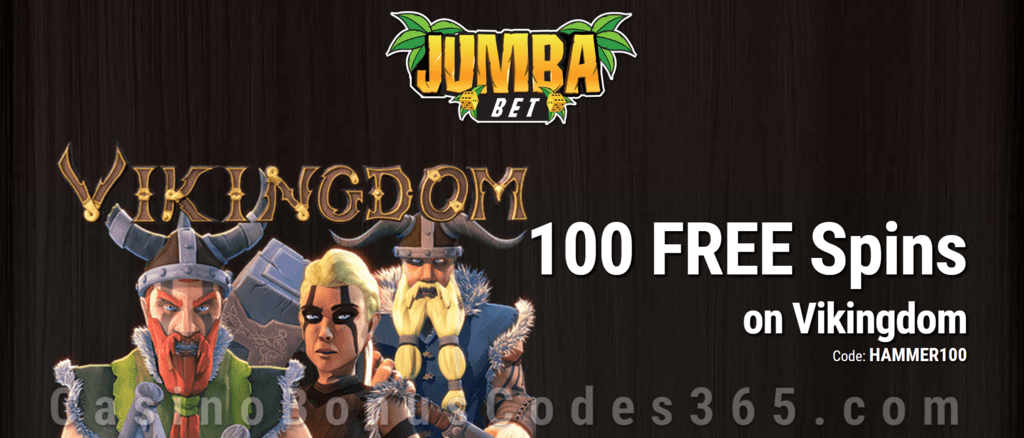 Jumba Bet Exclusive No Deposit 100 FREE Saucify Vikingdom Spins Offer