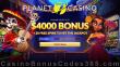 Planet 7 Casino 400% Match Bonus Plus 20 FREE Spins New Players Welcome Deal RTG Diamond Fiesta