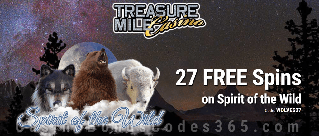 Treasure Mile Casino Exclusive 27 FREE Saucify Spirit of the Wild Spins