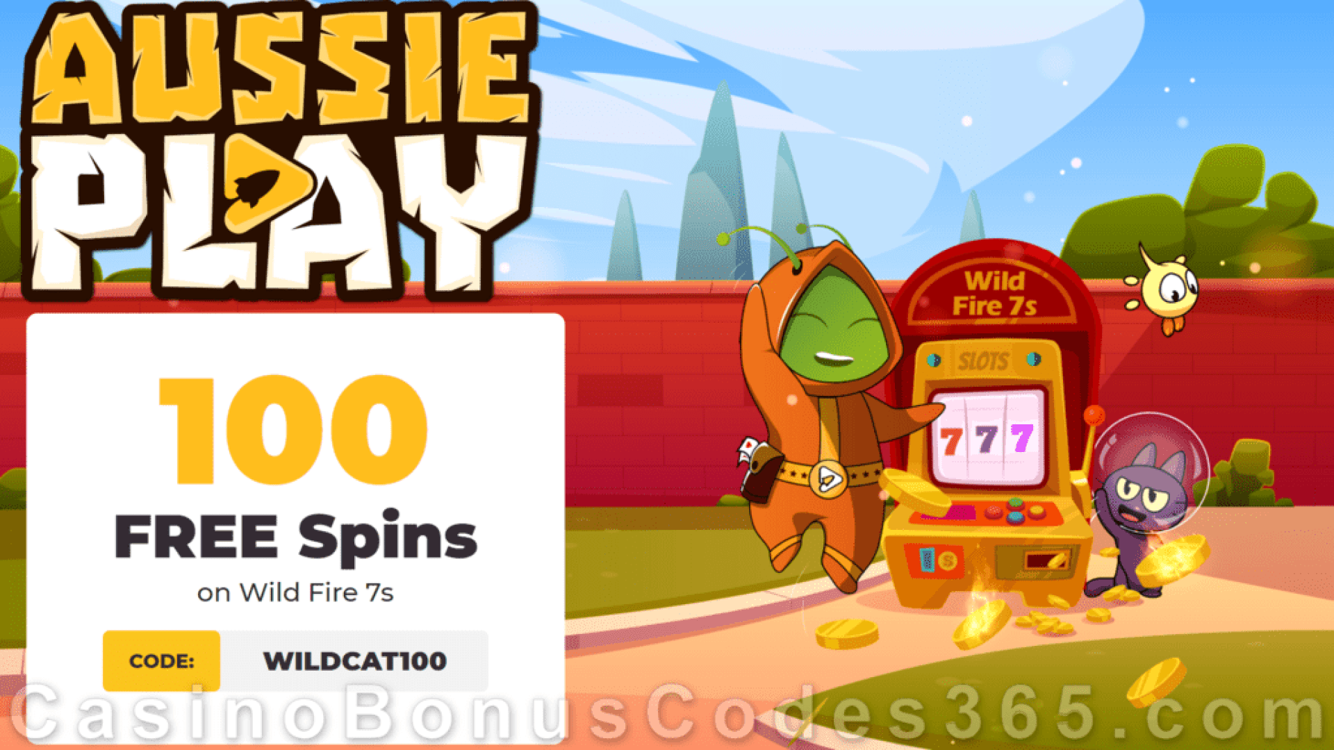 AussiePlay Casino 100 FREE RTG Wild Fire 7s Spins Special New Players Offer