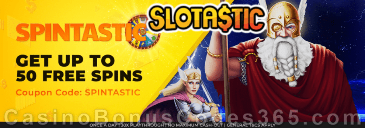 Slotastic Online Casino May Extra FREE Spins on Asgard Daily Offer