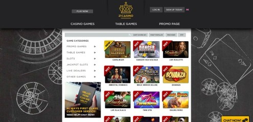21 casino games review