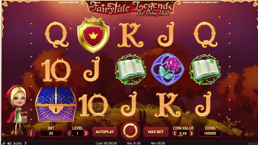 New slot Fairytale Legends: Red Riding Hood (Net Entertainment)