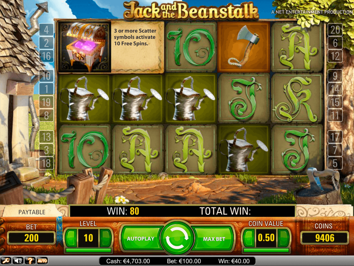 Jack And The Beanstalk Slot Machine Uk Play Free Games