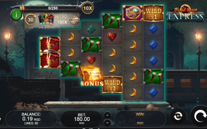 #Blood moon express #horor slot #online casino bonus