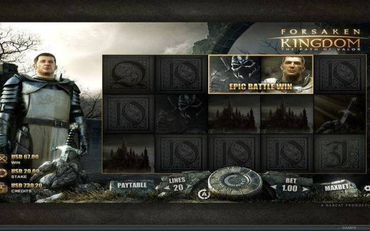 Forsaken Kingdom,  Epic Battle Bonus, Online Casino Bonus