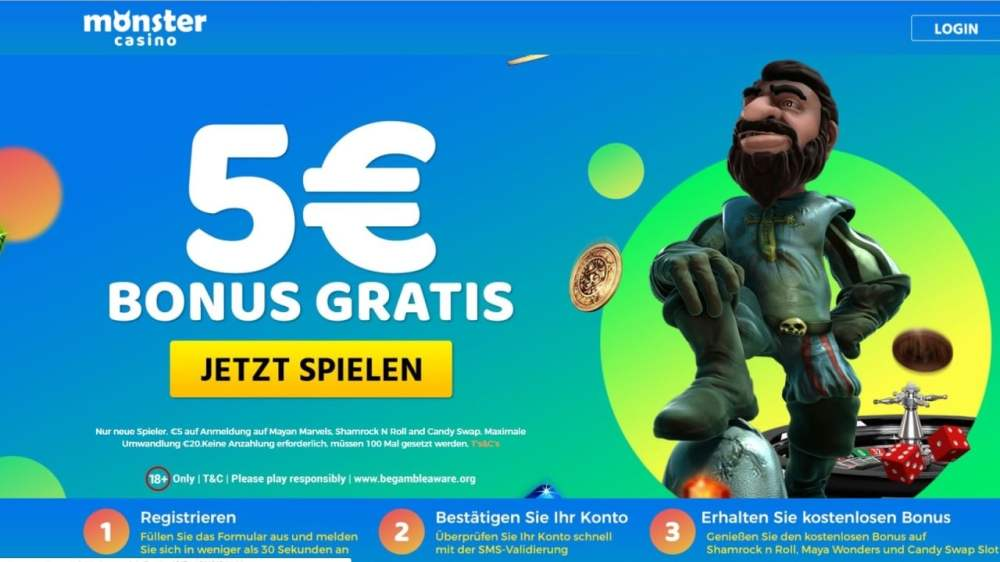 medium resolution of 5 monster casino bonus ohne einzahlung sofort plus freespins casinoplusbonus