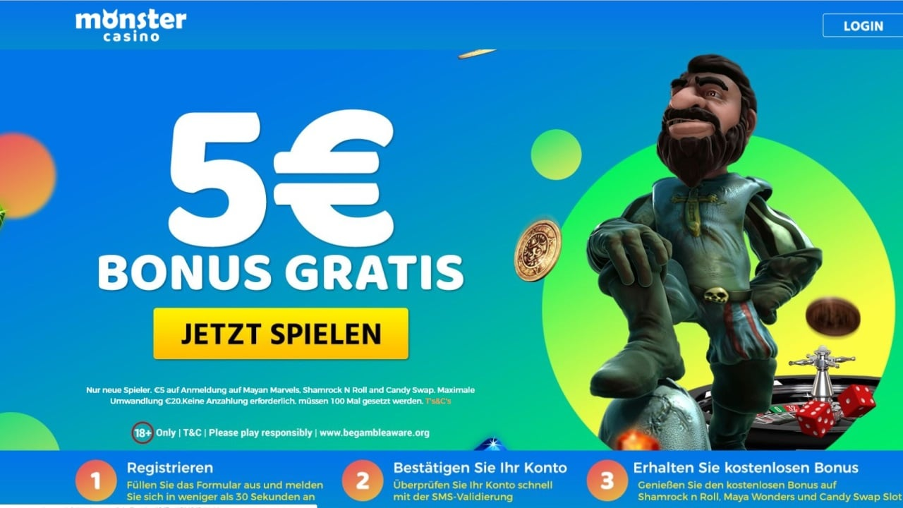 hight resolution of 5 monster casino bonus ohne einzahlung sofort plus freespins casinoplusbonus