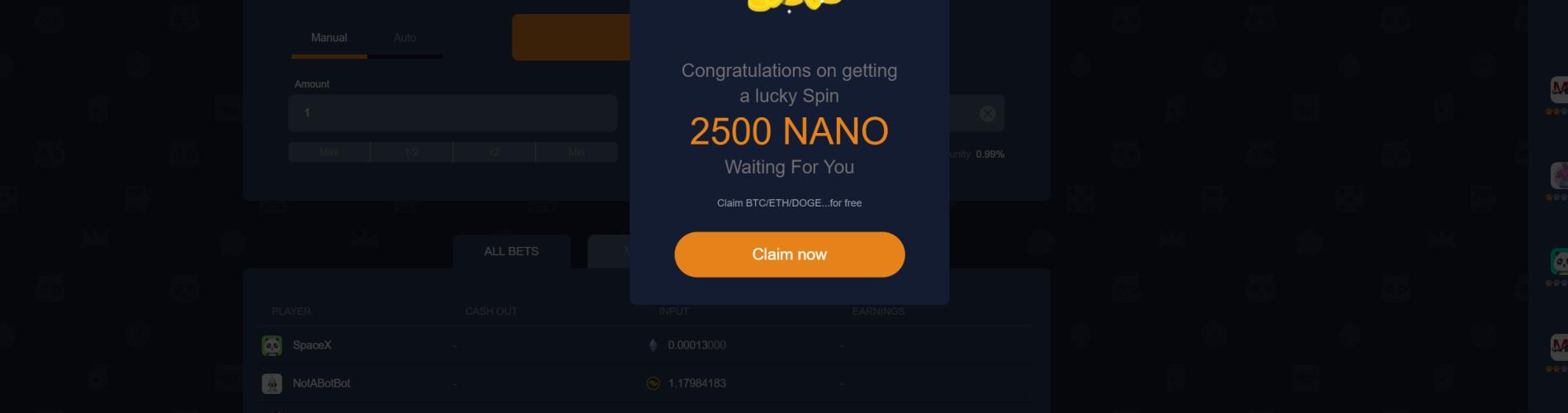 NanoGames Bonus
