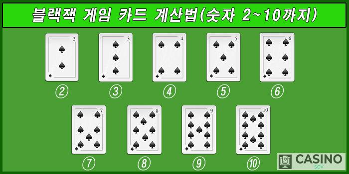 게임 카드 계산법(2~10까지)