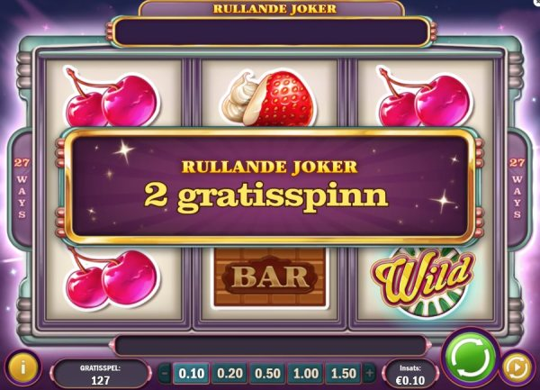 Sweet 27 med rullande joker