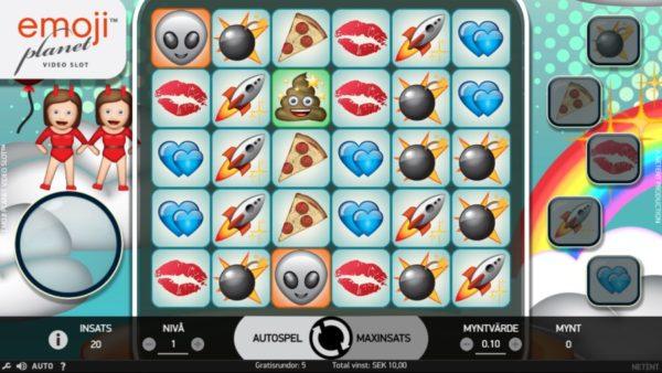 Fem olika bonusfunktioner i Emojiplanet från NetEnt