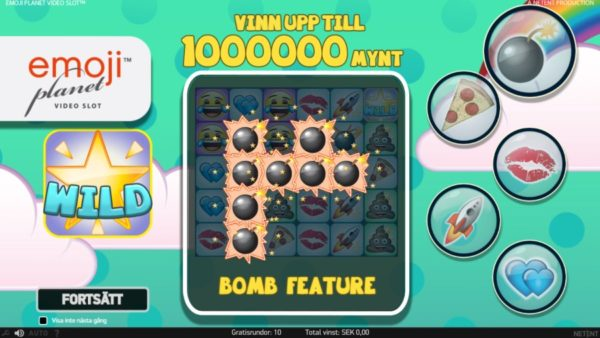 Fick 10 free spins på Emojiplanet video slot