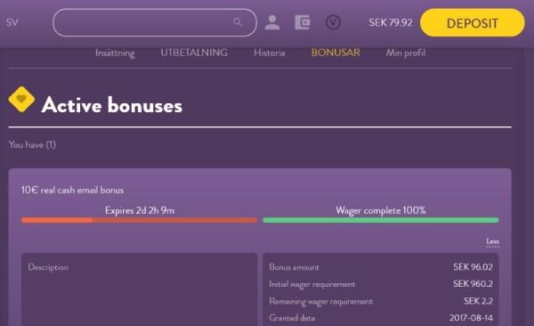 Vikingheim avklarat omsättningskrav för bonus