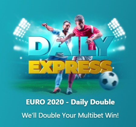 EURO 2020 – Daily Double for Betmaster players!