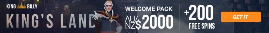 King Billy Casino AU/NZ Promo Banner