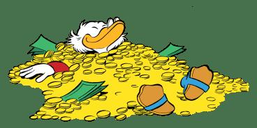 Ein Traum: Im Geld schwimmen wie Dagobert