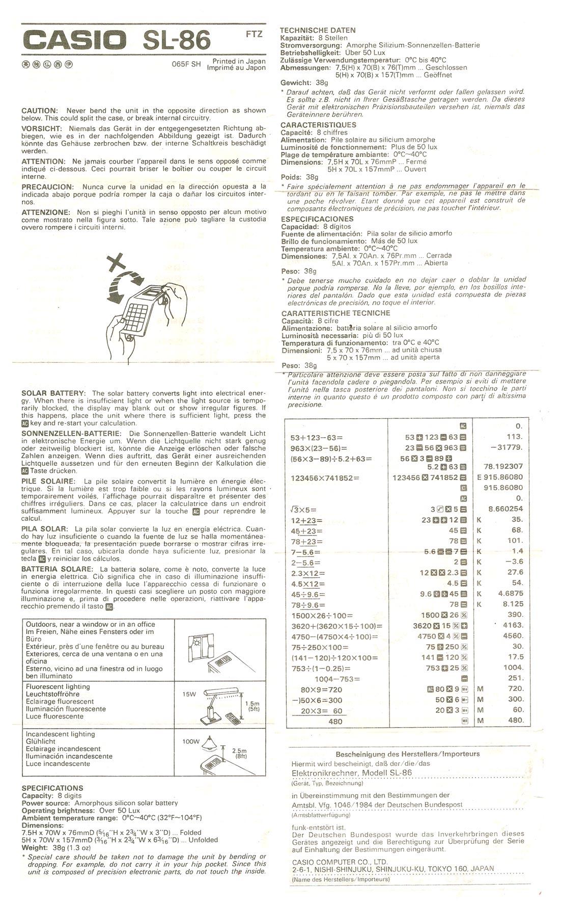 Casio Calculator Collector User Guides Manual
