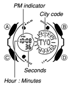 How to set time on Casio G-Shock GA-201