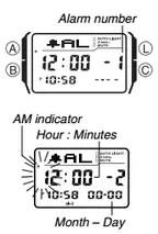 How to set alarm on Casio DBC-32