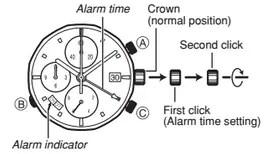 How to set alarm on Casio Edifice EF-545