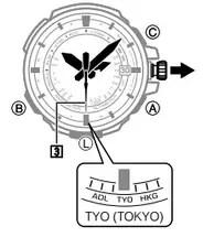 How to set time on Casio ProTrek PRX-7000