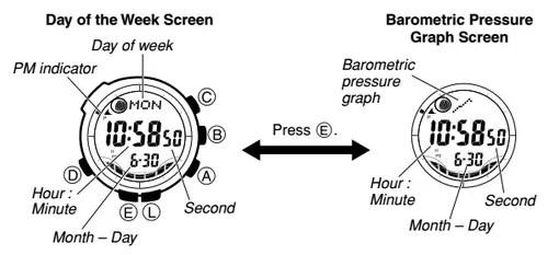 How to set time on Casio ProTrek PAW-1500
