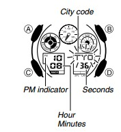 How to set time on Casio G-Shock GA-100