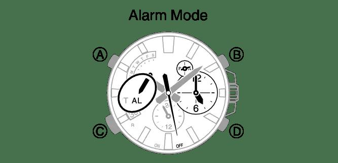 How to set alarm on Casio Edifice EQB-510