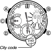 How to set time on Casio G-Shock GN-1000 / 5443