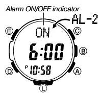 How to set alarm on Casio SGW-1000 / 3439