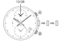 How to set time on Casio Edifice EFR-304 / 5468
