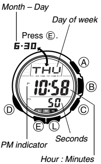 How to set time on Casio ProTrek PRG-80 / 2894
