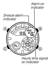 How to set alarm on Casio Edifice ERA-600 / 5499