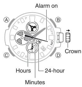 How to set alarm on Casio G-Shock GST-B100 / 5513