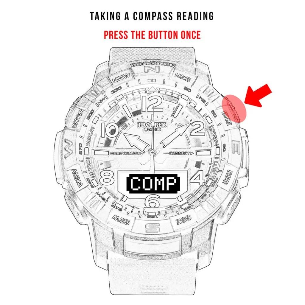 [ProTrek Bluetooth] PRT-B50 and compass reading guide