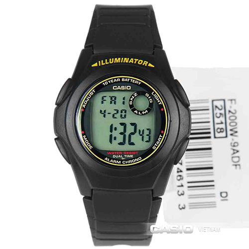 Đồng hồ Casio F-200W-9ASDF