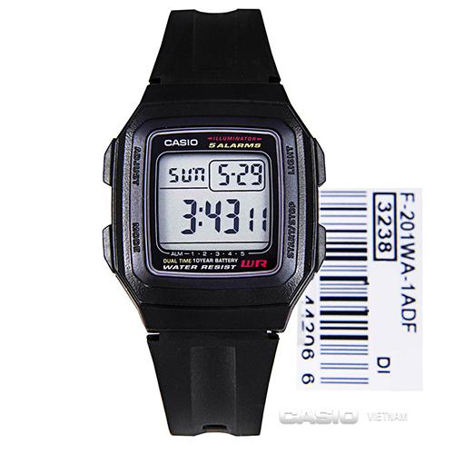 Đồng hồ Casio F-201WA-1ASDF