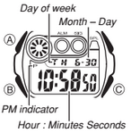 How to set time on Casio W-210
