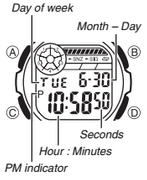 How to set time on Casio W-213
